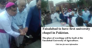 Faisalabad to have first university chapel in Pakistan