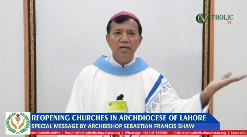 Public Masses to resume officially in the Churches of Archdiocese of Lahore