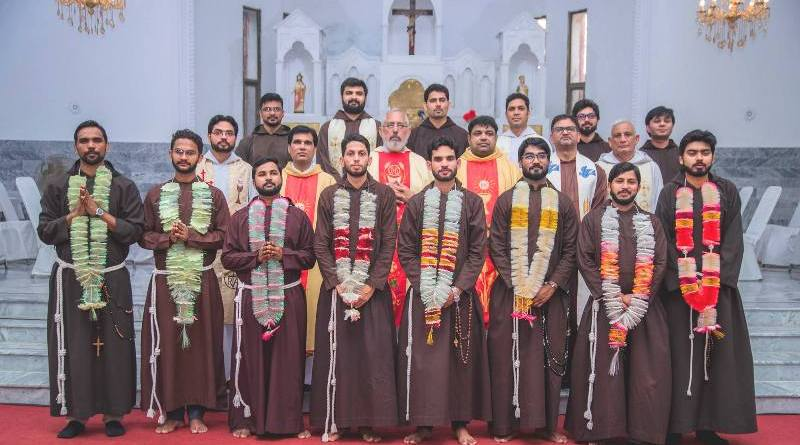 Two brothers professed their first vows as Capuchin Friars (Photo: Fr. Henry Paul)