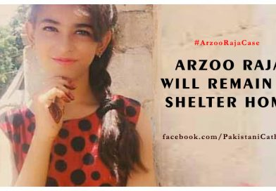Arzoo Raja will remain in a shelter home   Catholics in Pakistan