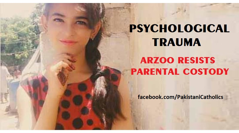 Psychological trauma Arzoo resists parental custody